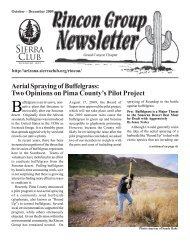 Aerial Spraying of Buffelgrass - Arizona Sierra Club
