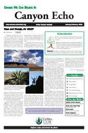 Jan/Feb 2009 (2.2 MB pdf) - Arizona Sierra Club