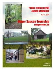 Table of Contents - Upper Saucon Township