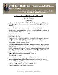 Fark Yaratanlar Program Metni: Erol Hanlıgil (28 ... - Sabancı Vakfı