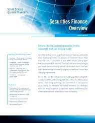 Securities Finance Overview - State Street