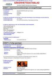 SÄKERHETSDATABLAD - GOJO Industries, Inc.
