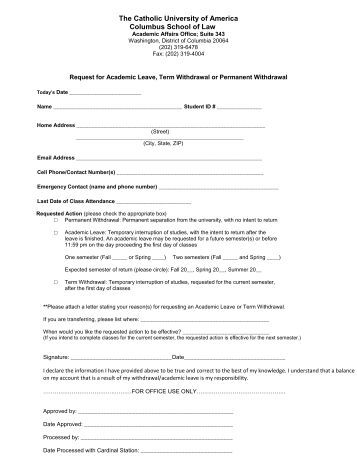Staff Leave Application Form Staff Leave Form For Uws