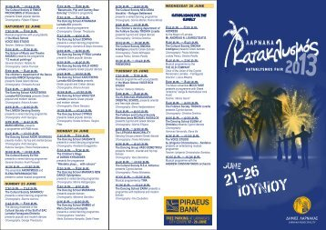 to download the programme of the festival (pdf) - Cyprus Events