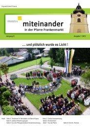 Ausgabe: 1 / 2013 - Pfarre Frankenmarkt - Diözese Linz