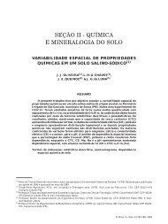 seção ii - química e mineralogia do solo - Sociedade Brasileira de ...