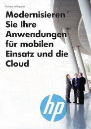 Whitepaper: Modernisieren Sie Ihre Anwendungen für ... - vubn.de