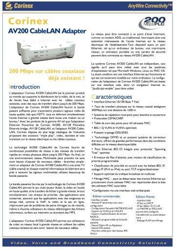 AV200 CableLAN Adapter - Corinex