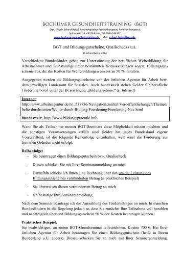 Merkblatt - BGT und Bildungsgutschein - bochumer ...