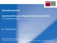 Stromkonzession Expertenanhörung im Abgeordnetenhaus von Berlin
