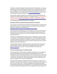 Welcome to the ASAA Newsletter for April-June 2008. The ...