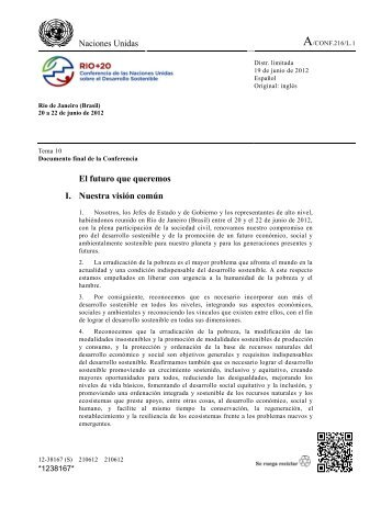 Rio+20 documento final L1 Español.pdf - Instituto Global para la ...