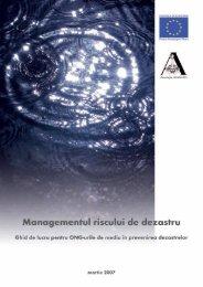 Managementul riscului de dezastru. Ghid de lucru pentru ONG-urile ...