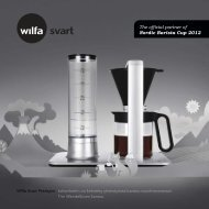 The official partner of Nordic Barista Cup 2012 - Wilfa