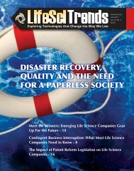 Disaster recovery, Quality anD the neeD for a PaPerless society
