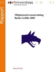 Miljøkonsekvensutredning Battle Griffin 2005.pdf - Forsvarsbygg