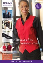 Because first impressions count - Dennys