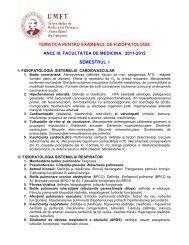 Tematică examen - OvidiusMD