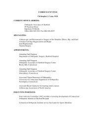 Curriculum Vitae - Orthopedic Associates of Hartford