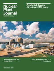 Products & Services - Nuclear Plant Journal