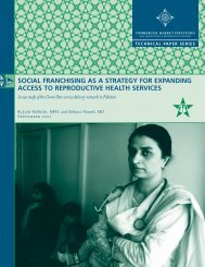 social franchising as a strategy for expanding access - Reproductive ...