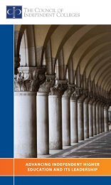 Read the CIC brochure. - The Council of Independent Colleges