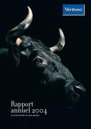 Rapport financier annuel - 2004 - Virbac