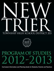 Program of Studies 2012-2013 - New Trier Township High School