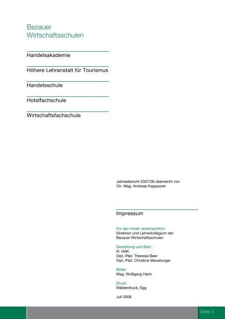 2007/2008 - Bezauer Wirtschaftsschulen