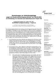 Anmerkungen zur Anfechtungsklage - Wengert Gruppe