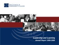 Annual Report 1999-2000 - The Council of Independent Colleges