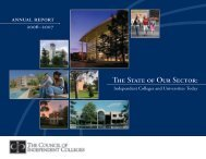 Annual Report 2006-2007 - The Council of Independent Colleges