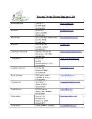 Young Event Horse Judges List