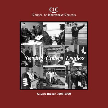 Annual Report 1998-1999 - The Council of Independent Colleges
