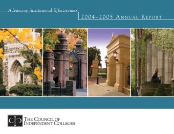 Annual Report 2004-2005 - The Council of Independent Colleges