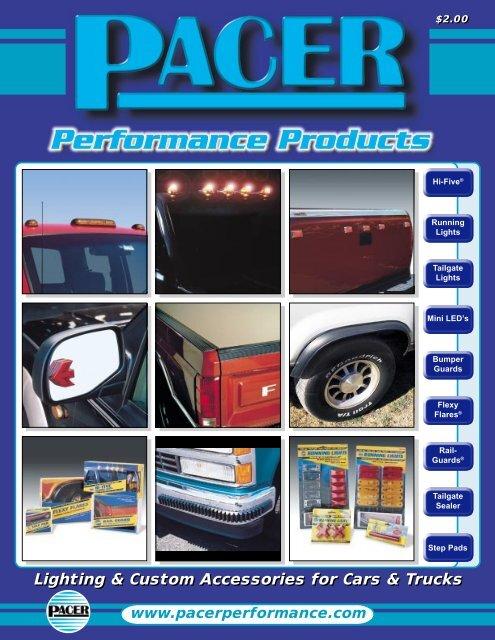 Pacer Performance 21-105 Black 6 Tailgate Rail Guard Kit