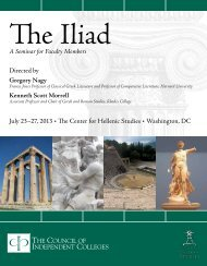 The Iliad - The Council of Independent Colleges