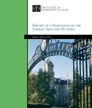 Download the report - The Council of Independent Colleges