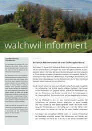 walchwil informiert - Gemeinde Walchwil