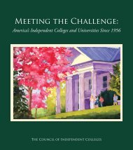 Meeting the Challenge: - The Council of Independent Colleges