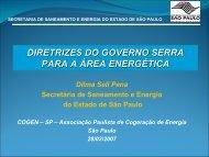 SECRETARIA DE SANEAMENTO E ENERGIA DO ... - Cogen