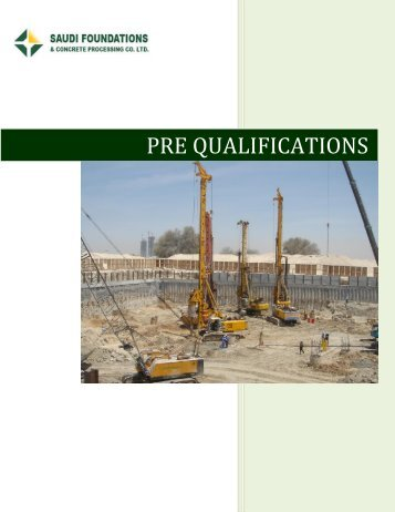 Prequalification Document - Saudi Foundations