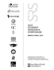 STUDENT RESEaRch SympoSiUm 2010 - Graduate and Research ...