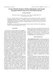 Ab Initio Molecular Dynamics with Born-Oppenheimer and Extended ...
