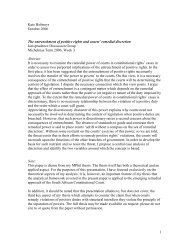 My thesis work was primarily inspired by a sense that certain ...
