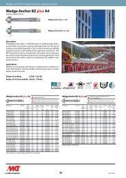 Wedge Anchor BZ plus A4 - MKT Metall-Kunststoff-Technik GmbH ...