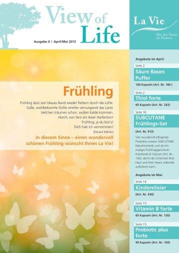 View of Life Ausgabe 4 | April/Mai 2013 - La Vie