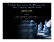 A Holistic Approach to Risk Management - The Council of ...