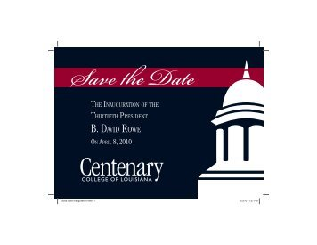 Centenary College (LA) - The Council of Independent Colleges