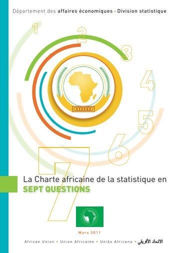 La Charte africaine de la statistique en SEPT ... - African Union